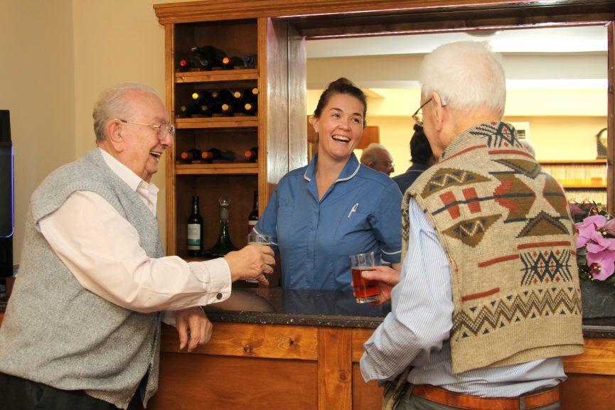 Gents having a beer at the Bar